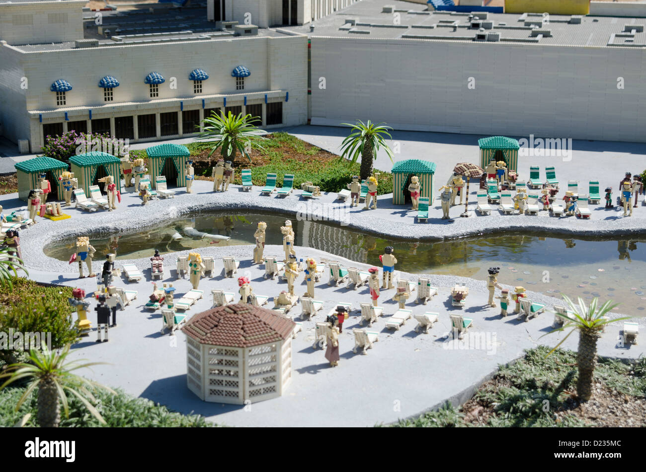 A scene from Miniland Las Vegas, Legoland California Resort amusement theme park, San Diego, California, USA Stock Photo