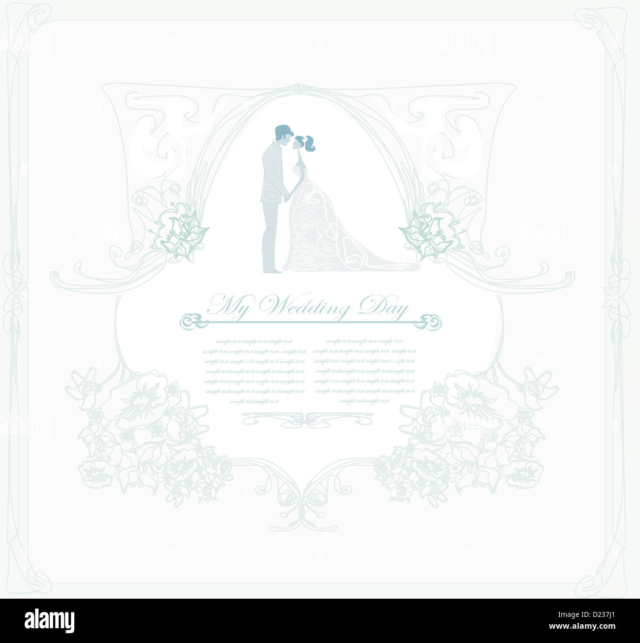 elegant wedding invitation with wedding couple Stock Photo: 52932265 ...