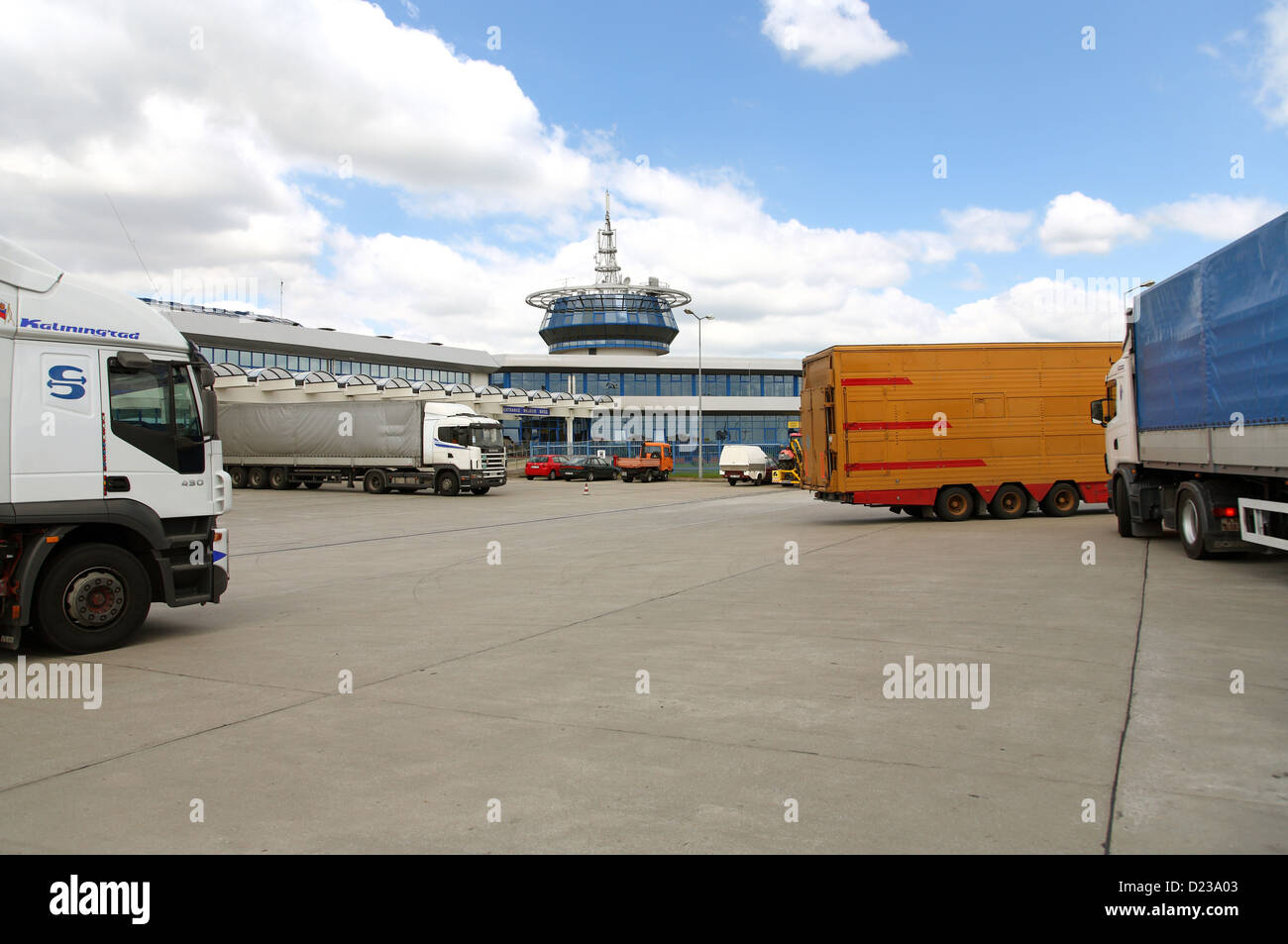 Koroszczyn, Poland, the truck terminal Koroszczyn Stock Photo