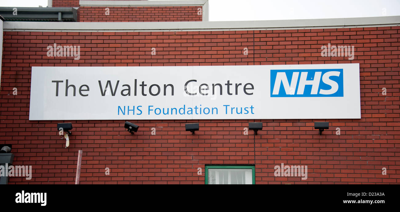 Walton Centre NHS Foundation Trust Liverpool  UK one of 17 Hospitals among 26 healthcare providers in England failing - Stock Image