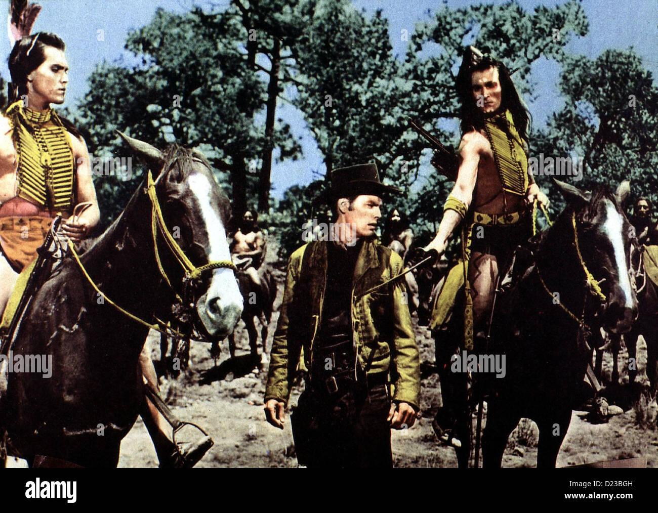 Die Weisse Feder  White Feather,  Jeffrey Hunter, Robert Wagner, Hugh O'Brian Die Weissen haben die Cheyenne - Stock Image