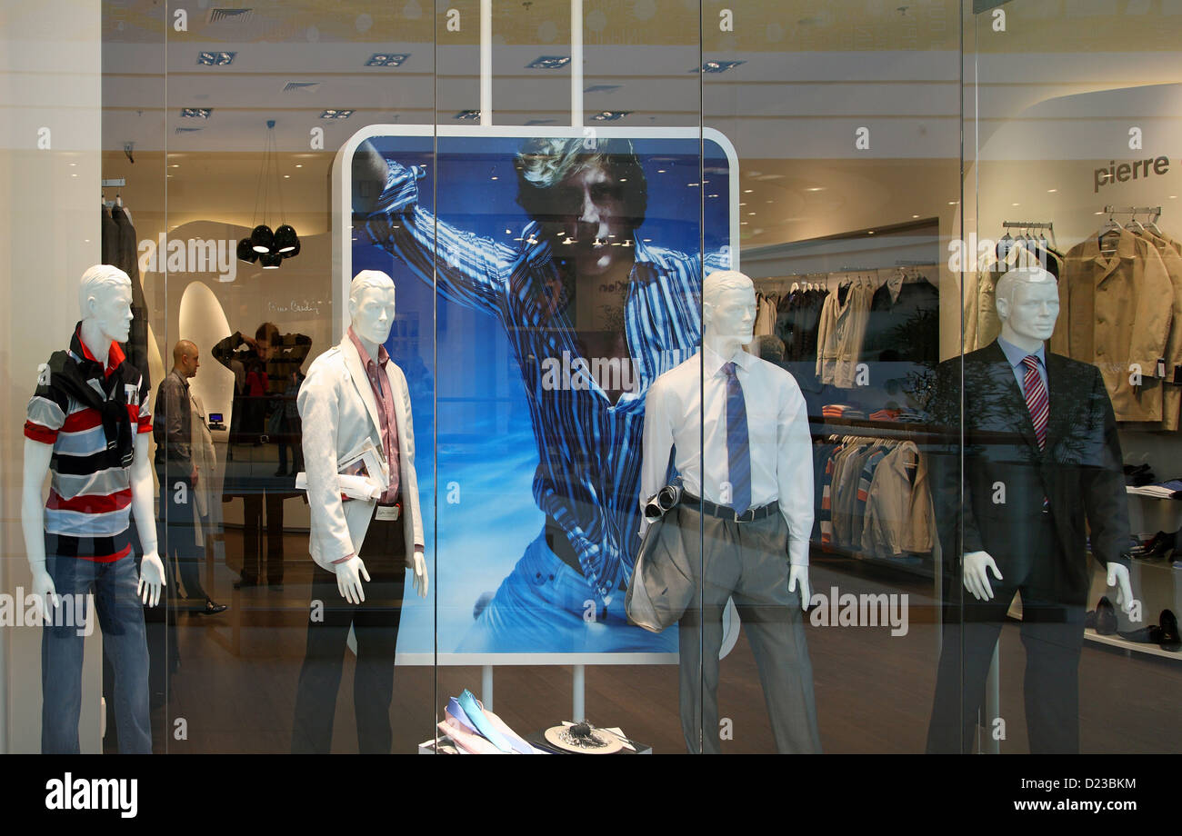 Poznan, Poland, branch of Pierre Cardin in the shopping center Galeria MALTA - Stock Image