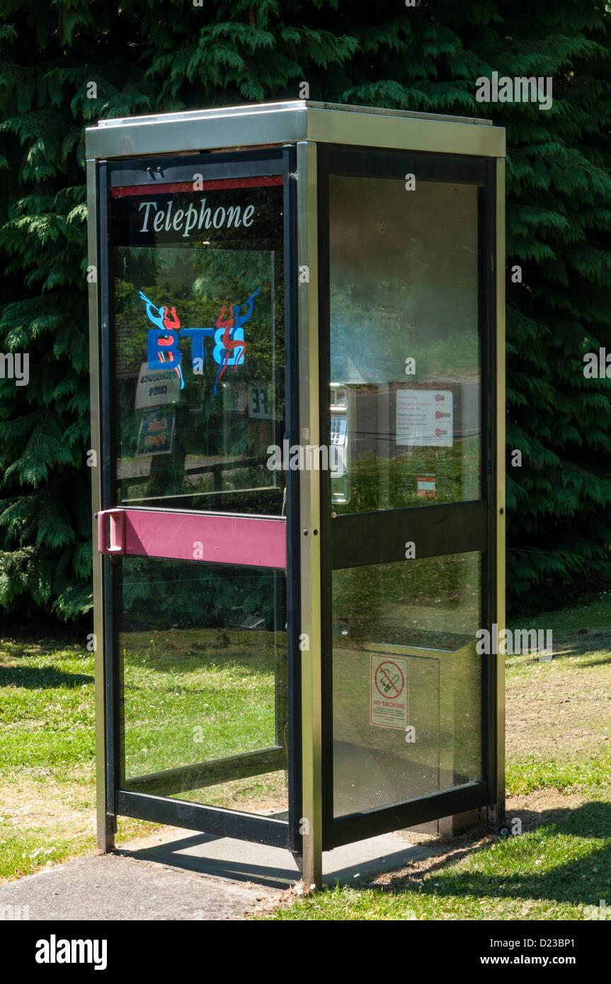 Telephone box Lochearnhead Stirling District Scotland Stock Photo