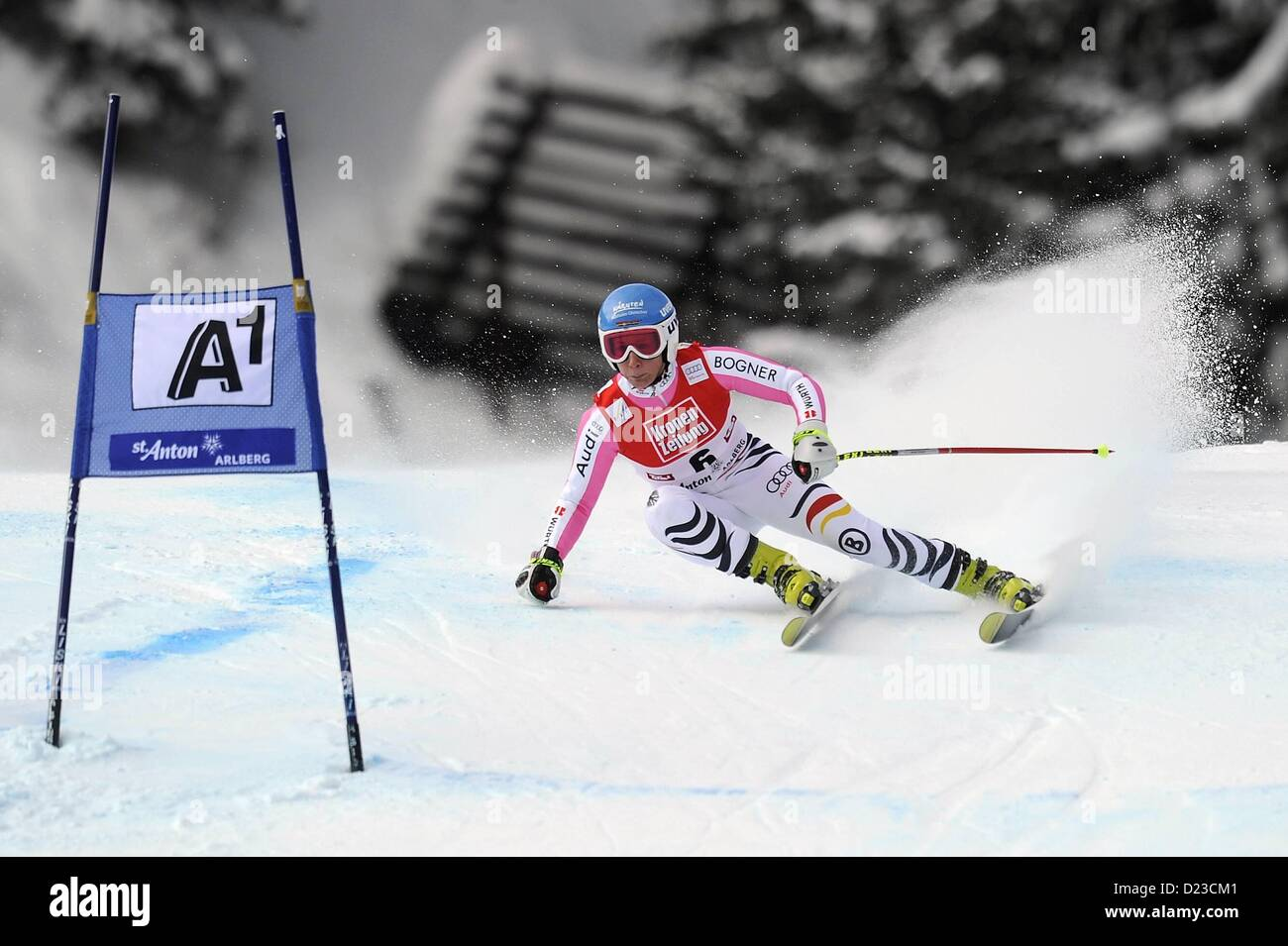 St Anton, Austria. 13th Jan, 2013.   Ski Alpine FIS World Cup Super G for women Veronique  GER - Stock Image