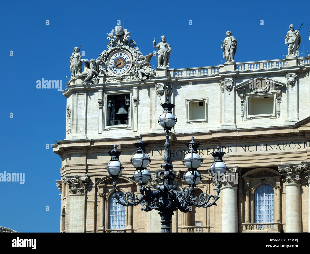 Lantern and Bells at St Peter square. - Stock Image