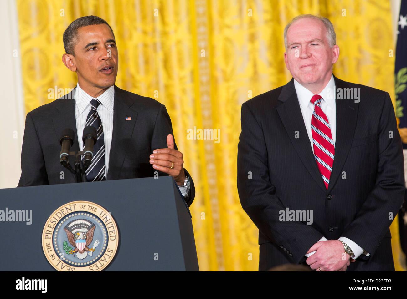 President Barack Obama nominates John Brennan as the new Director of the CIA.  - Stock Image