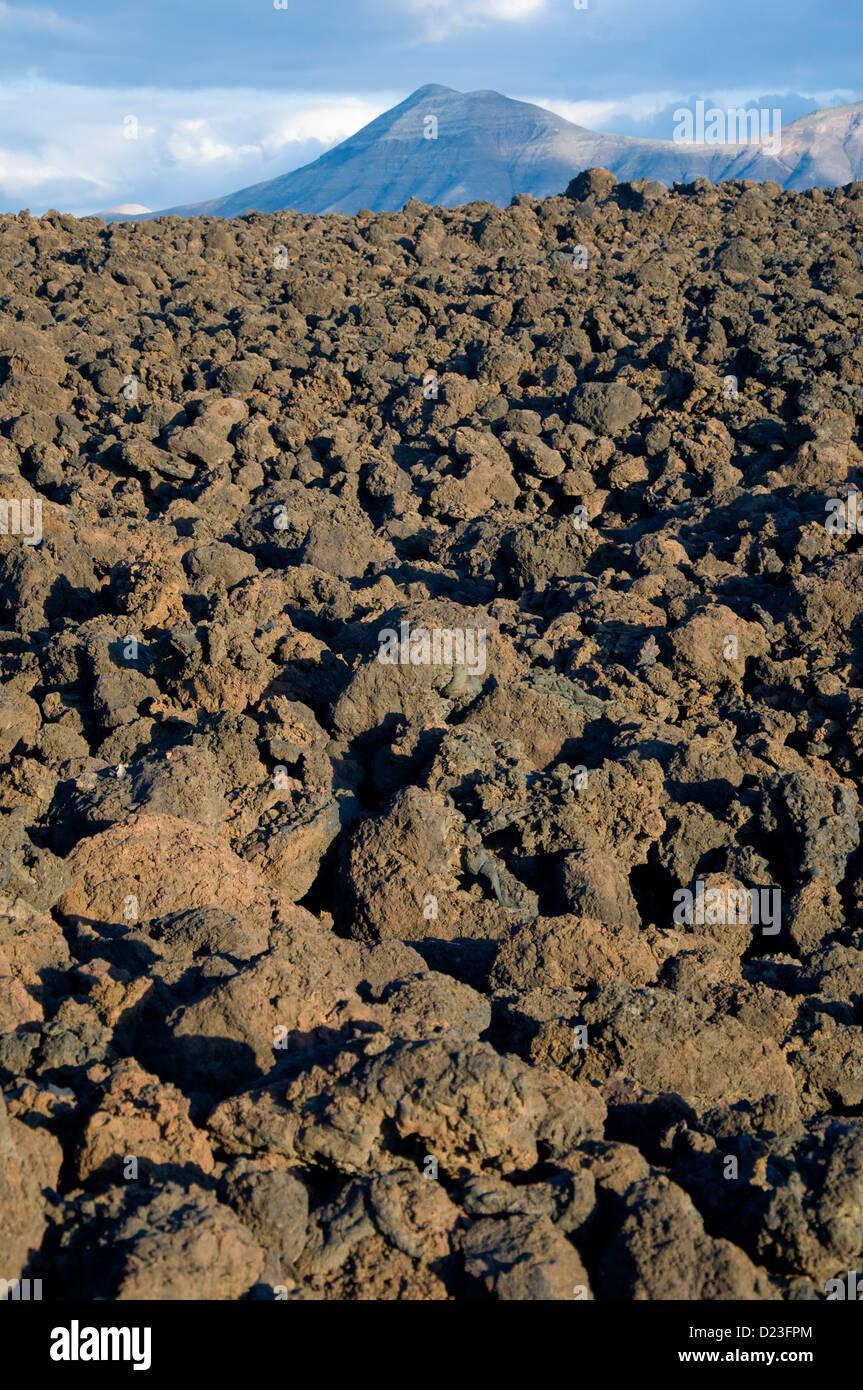 Lava Field, Lanzarote, Canary Islands, Spain Stock Photo