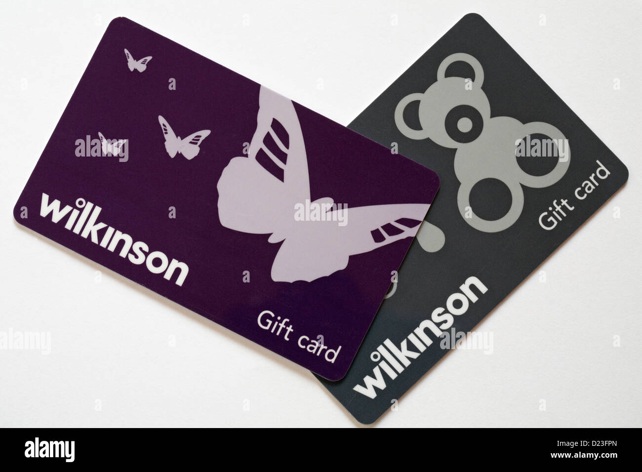Gift cards stock photos gift cards stock images alamy two wilkinson gift cards giftcards set on white background giftcard gift card stock image negle Choice Image