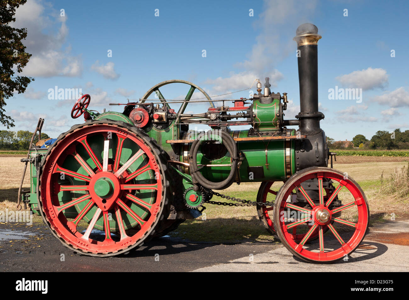 A steam engine - Stock Image