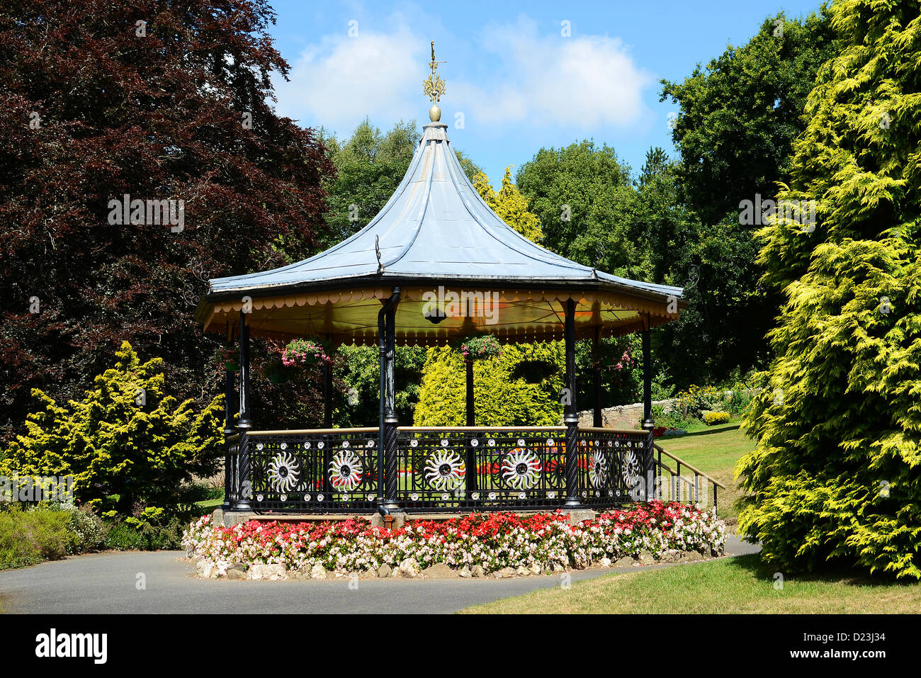 the bandstand in victoria gardens, truro, cornwall, uk - Stock Image
