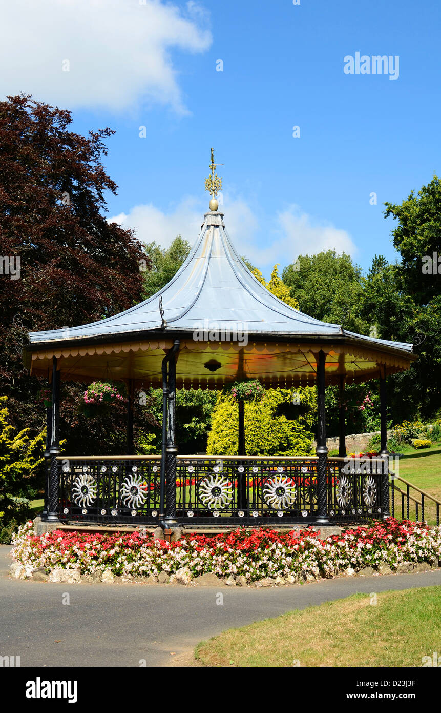 the bandstand in victoria gardens, truro, cornwall, uk Stock Photo