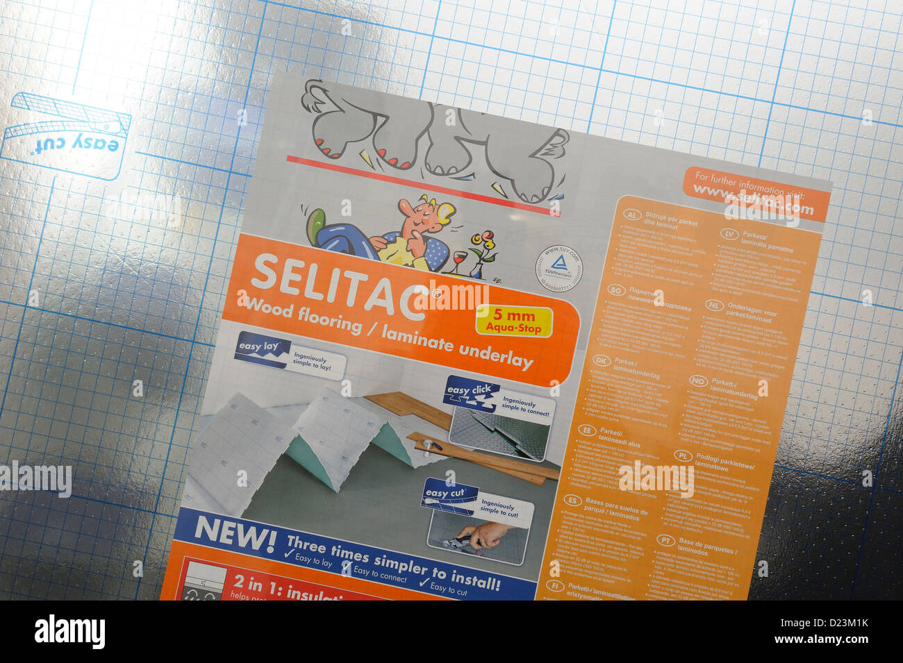 selitac wood flooring laminate underlay stock photo: 52941999 - alamy