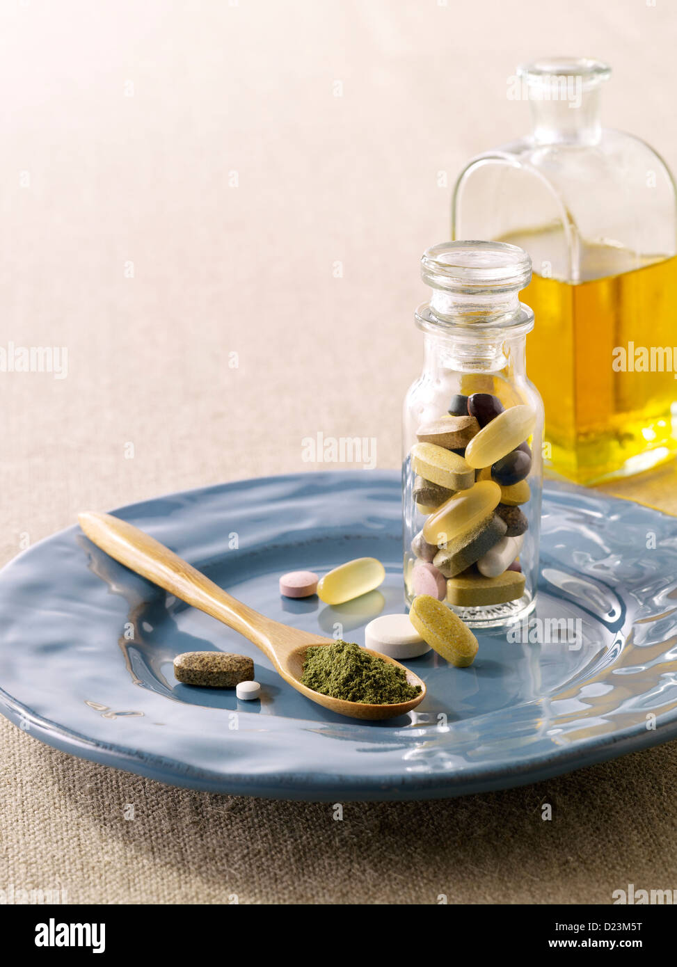 Supplements and vitamins - Stock Image