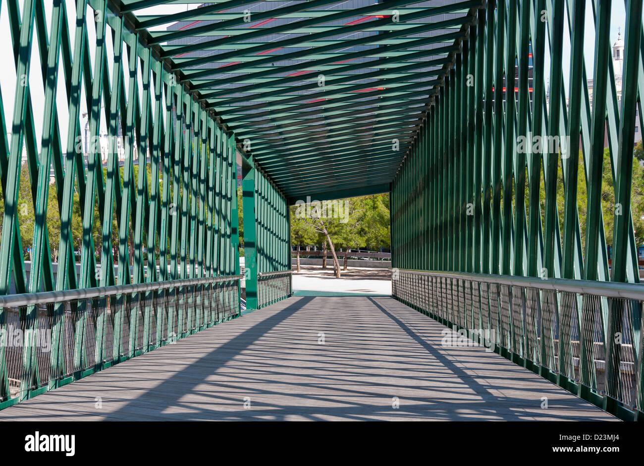 Bridge over the River Manzanares in Madrid Stock Photo