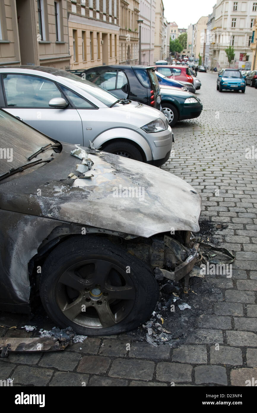 Burned Car In The Street Stock Photos & Burned Car In The Street ...