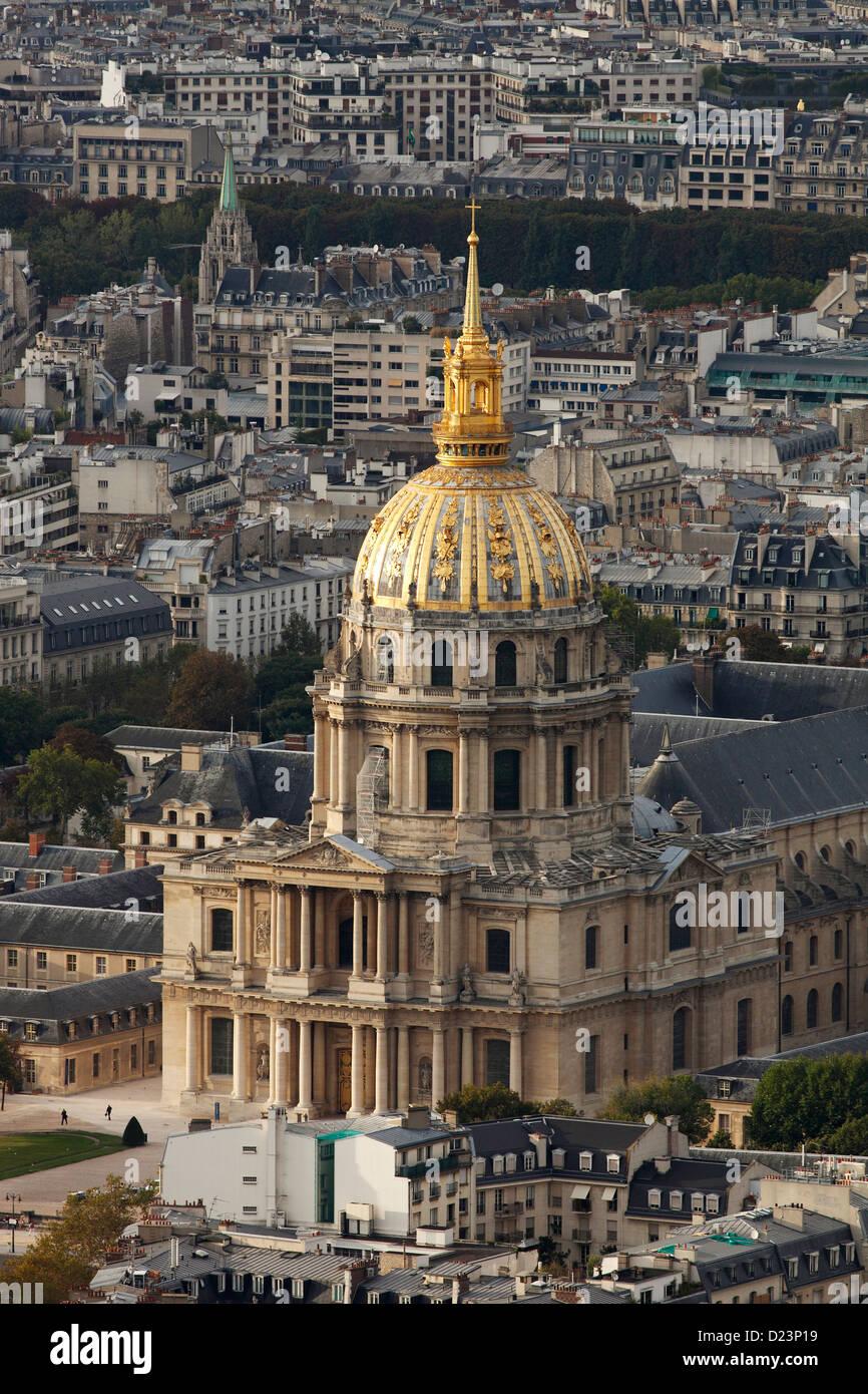 Les Invalides in Paris; L'Hôtel national des Invalides;  Hôtel des Invalides Stock Photo