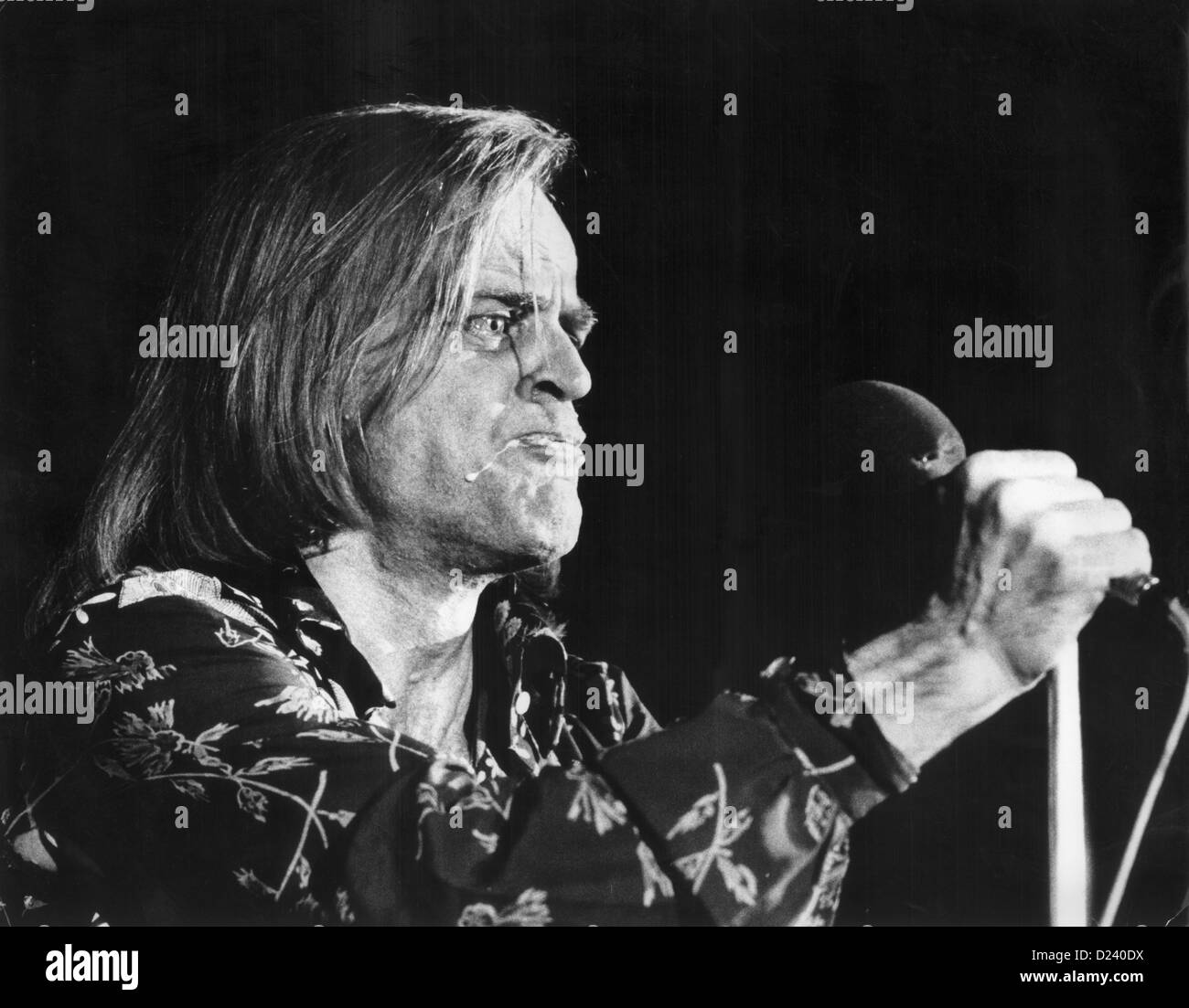 Actor Klaus Kinski presents his version of the 'New Testament' in the Philipshalle in Düsseldorf on - Stock Image