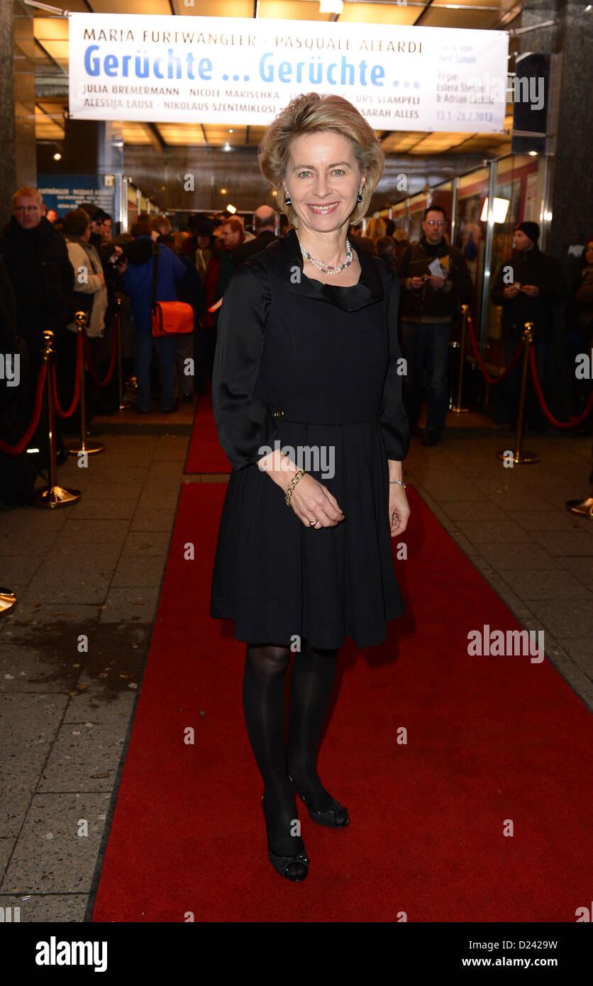German Minister of Labour and Social Affairs Ursula von der Leyen arrives for the premiere of 'Geruechte... - Stock Image