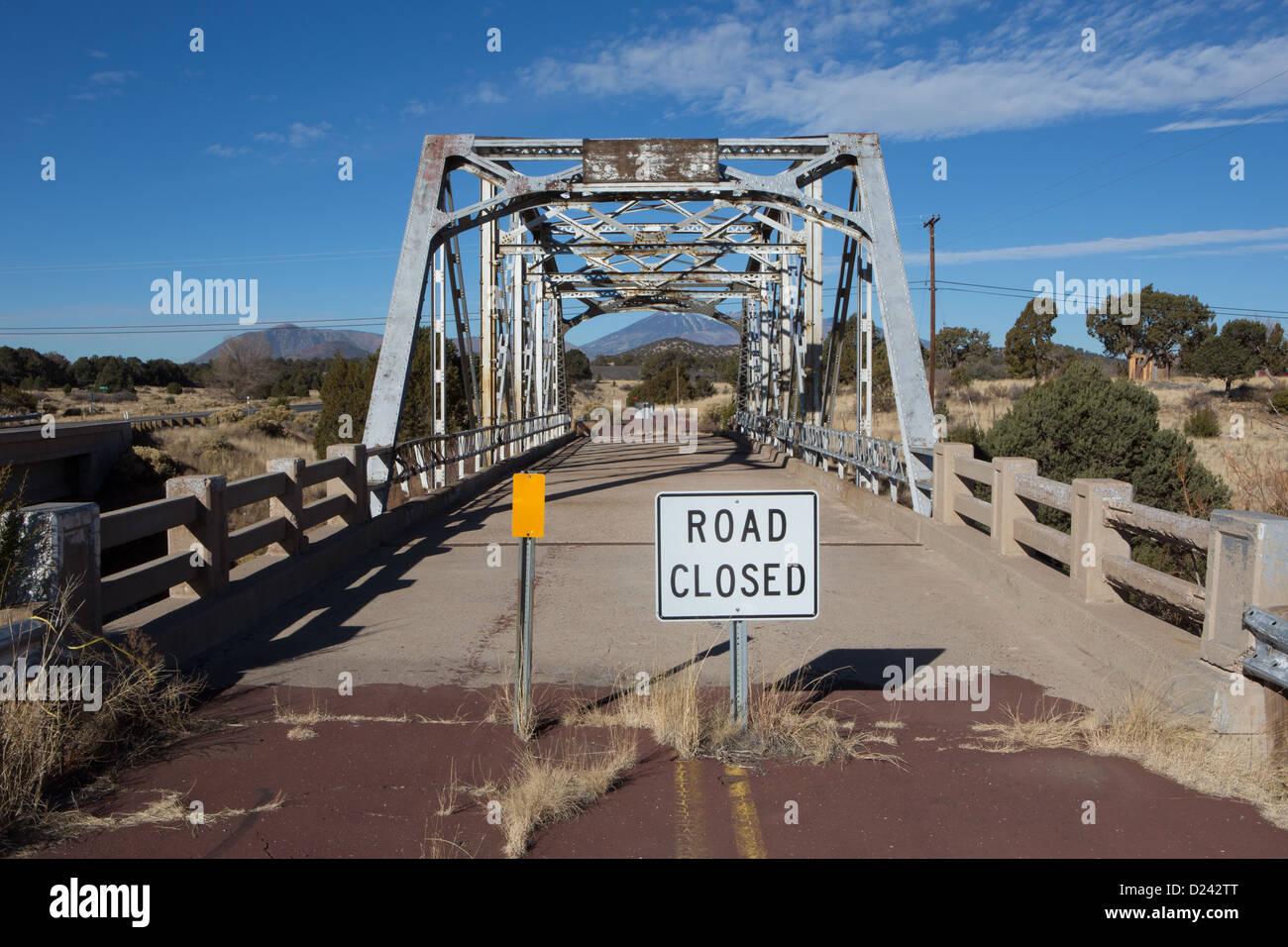 Old Route 66 >> Disused Bridge On The Old Route 66 Winona Arizona Stock Photo