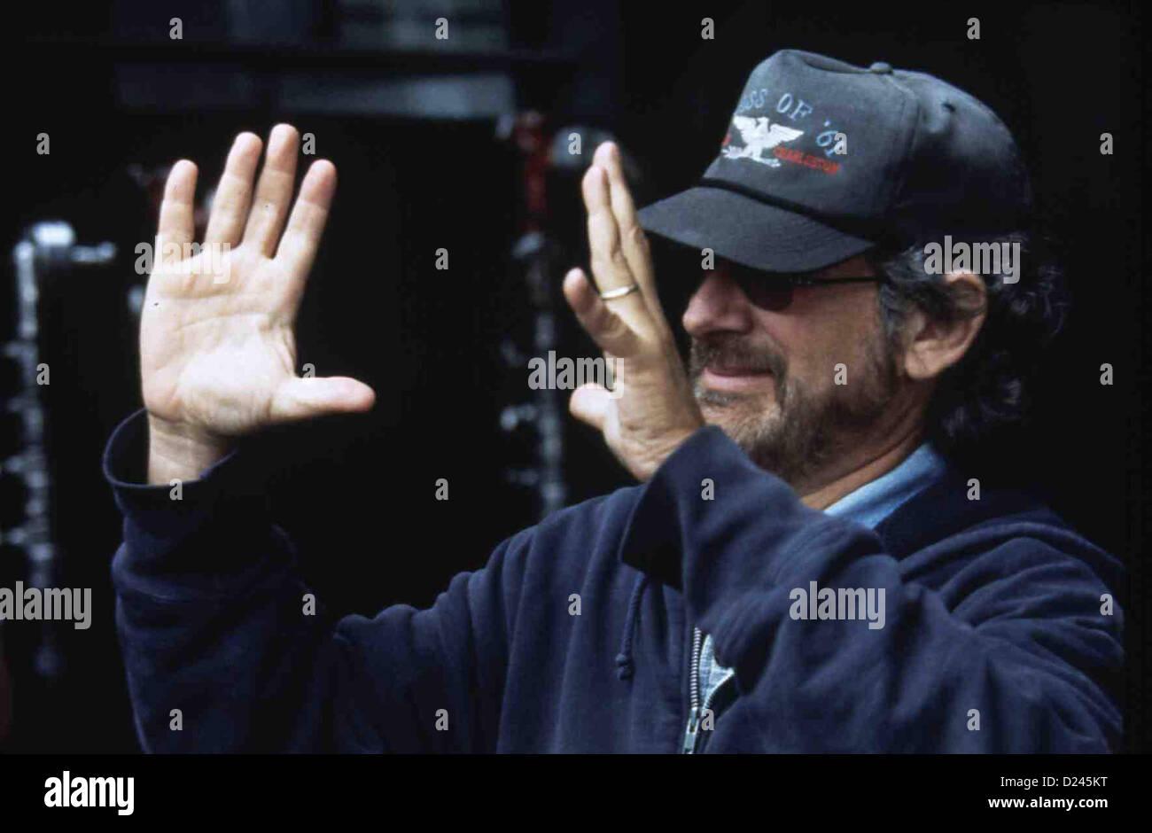 Steven Spielberg  Spielberg, Steven  STEVEN SPIELBERG, 1993 am Set von LOST WORLD: JURASSIC PARK, USA 1993 *** Local - Stock Image