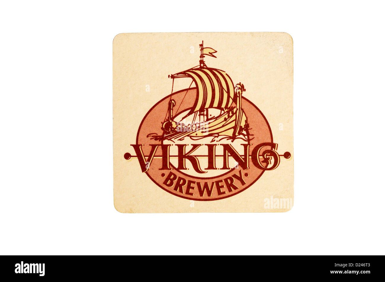 A Viking Brewery beer mat. - Stock Image