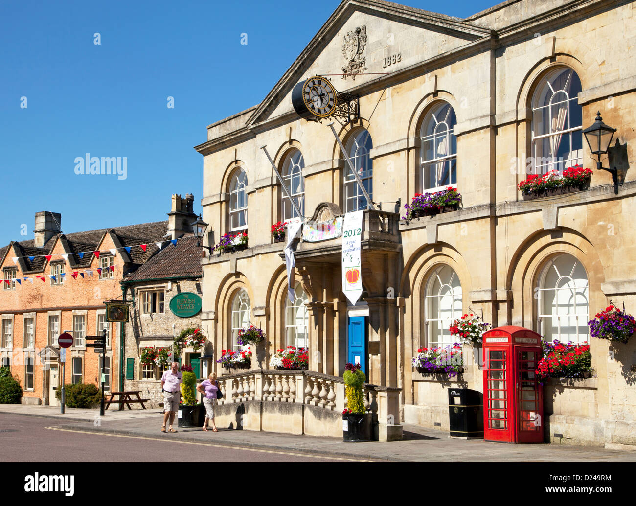 The town hall in Corsham in Wiltshire, England. Stock Photo