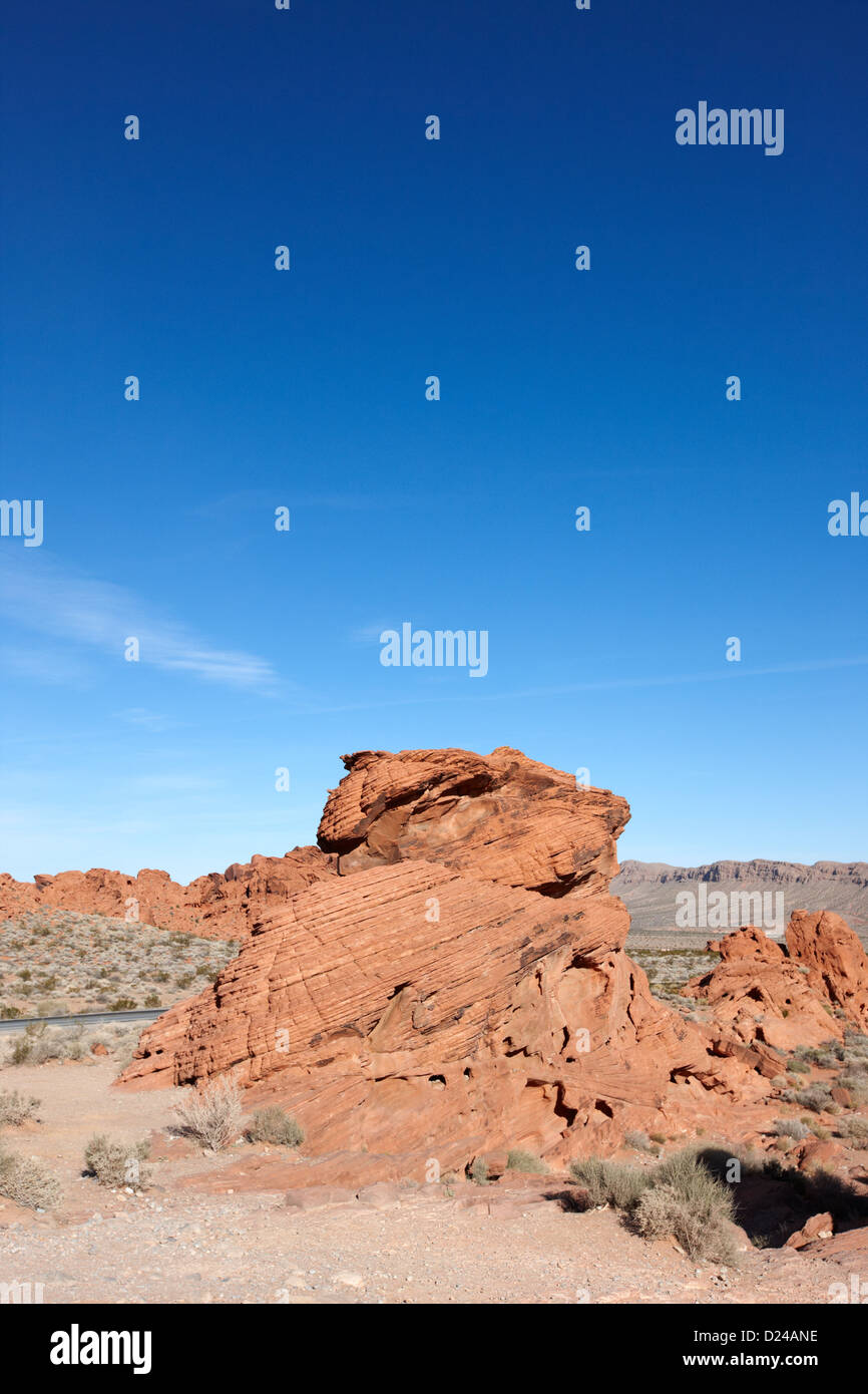 beehives sandstone formations in valley of fire state park nevada usa - Stock Image