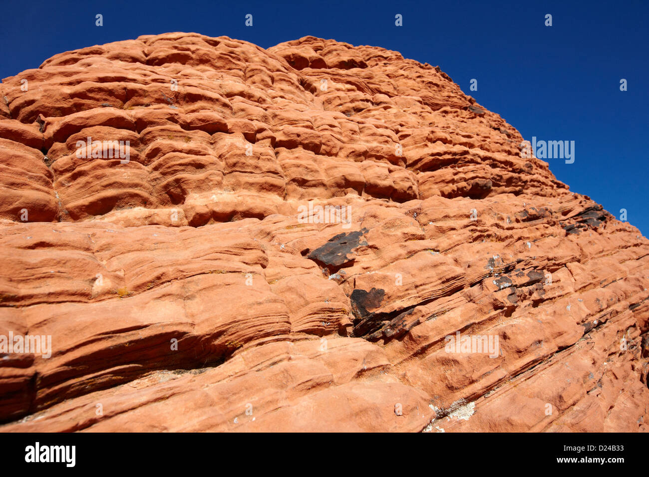 layers or beds on beehives sandstone formations in valley of fire state park nevada usa - Stock Image