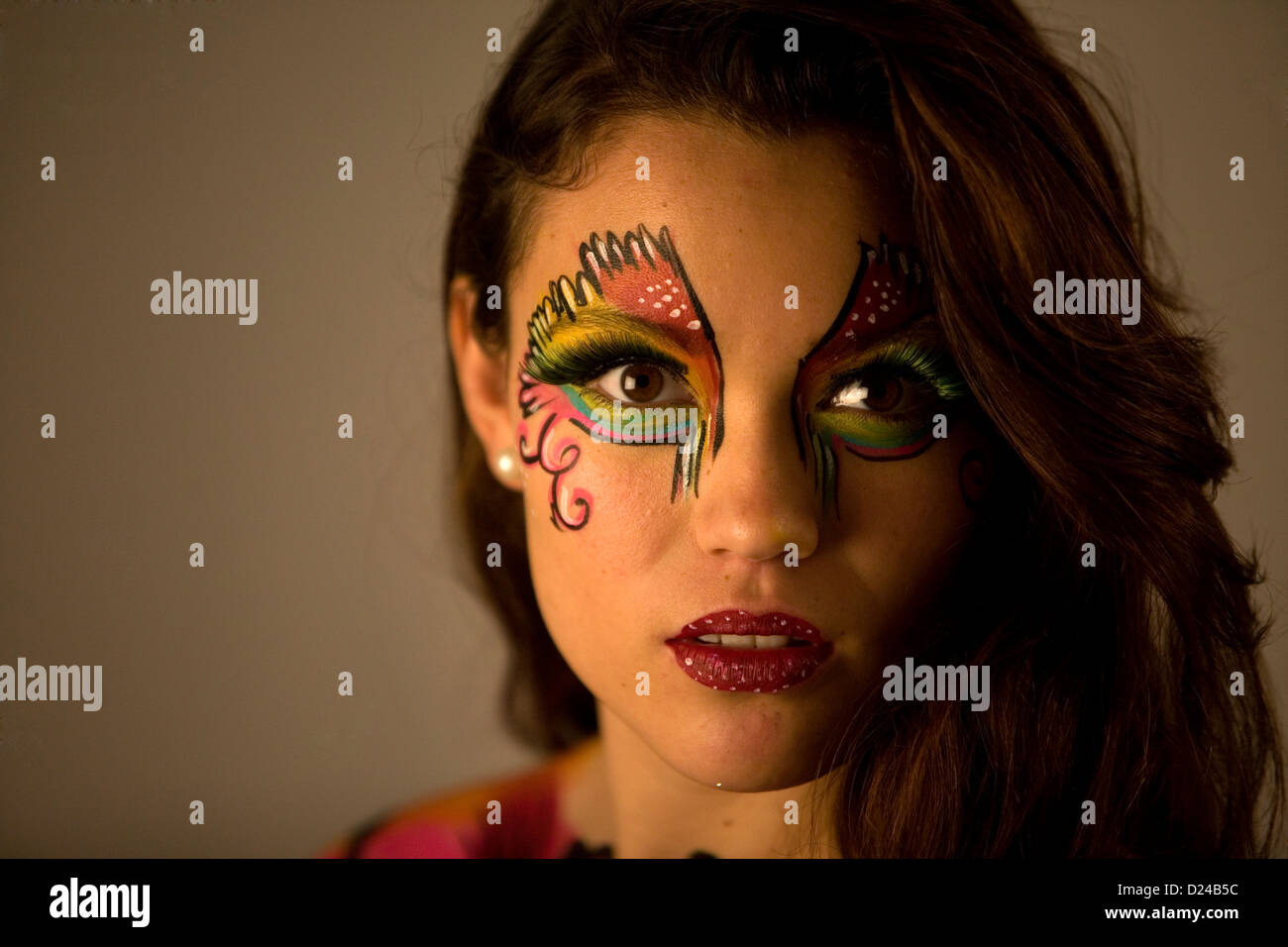 Model Poses During Body Art Fashion High Resolution Stock Photography And Images Alamy