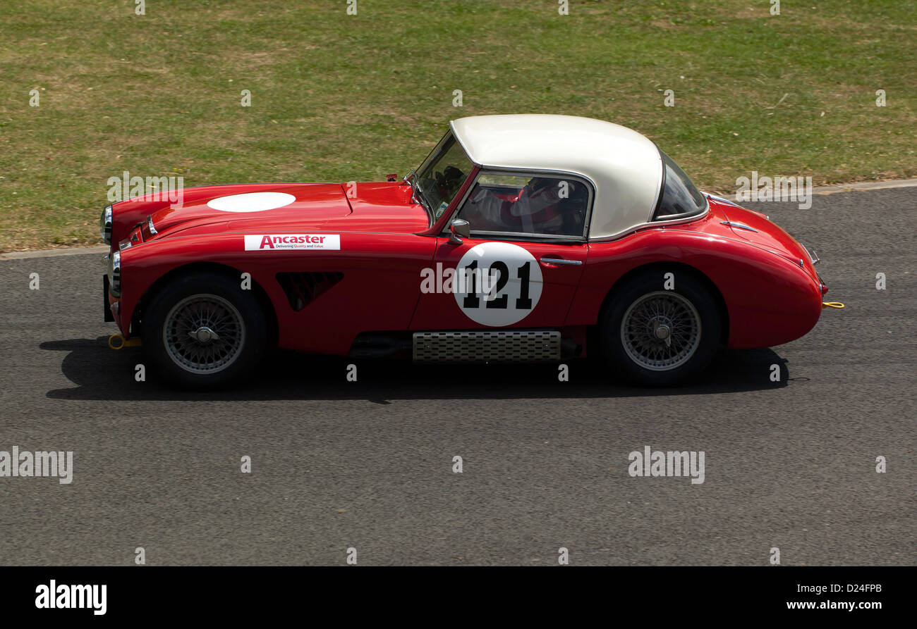 Robert Chambers driving a 1962 Austin Healy 3000 MkII in the Sprint event at motorsport at the palace 2011 - Stock Image