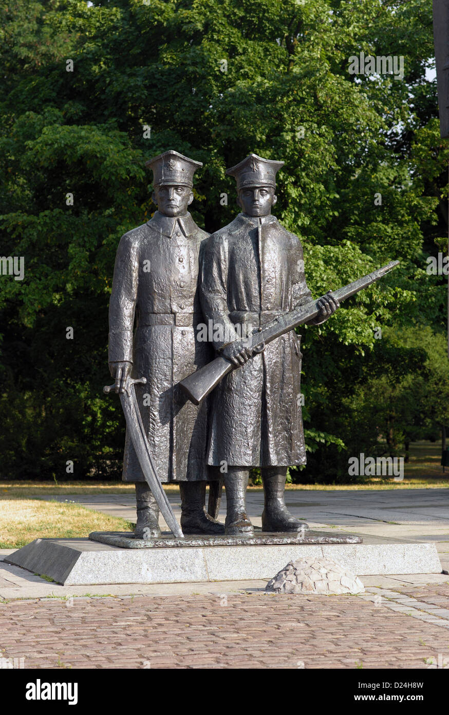 Poznan, Poland, detail of the monument for the United Polish insurgents Stock Photo