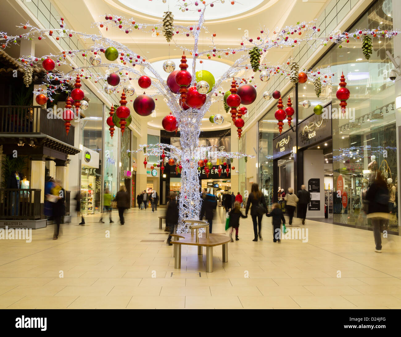 Christmas Shoppers In Eldon Square Shopping Mall In Newcastle Upon