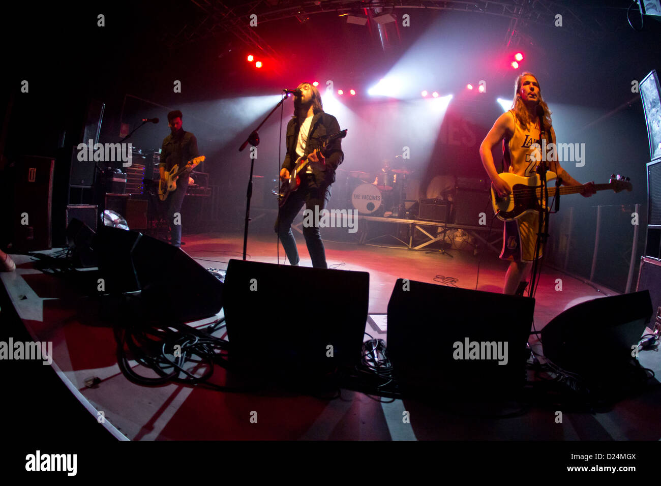 December 13, 2012 - Milan, Italy - The Vaccines, english rock band performs at the music club Magazzini Generali - Stock Image