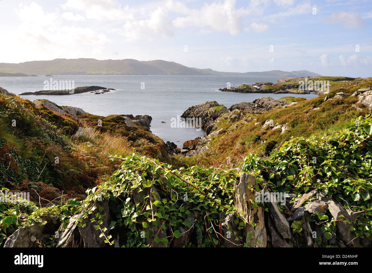 View of Coulagh Bay looking towards County Kerry from West Cork,Ireland - Stock Image