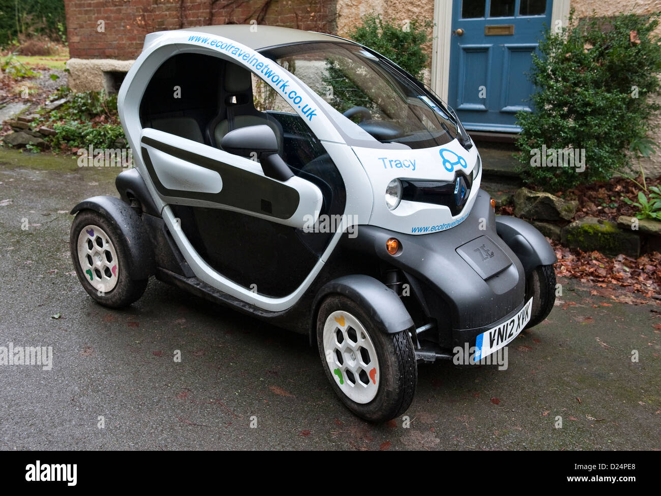 Wales, UK. A Renault Twizy electric city car Stock Photo