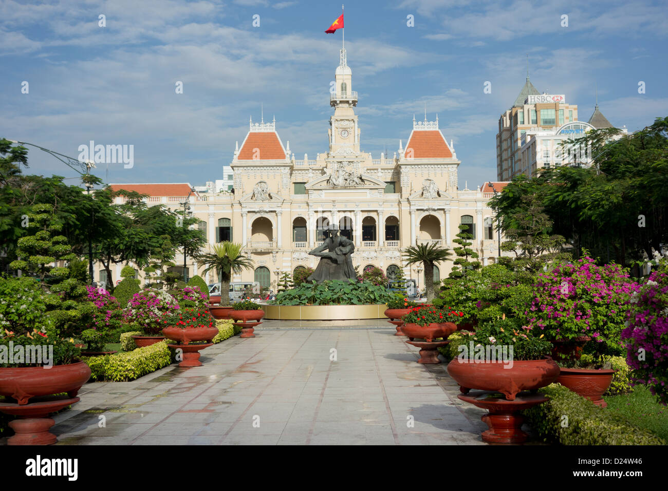 City Hall; Ho Chi Minh City; Vietnam - Stock Image