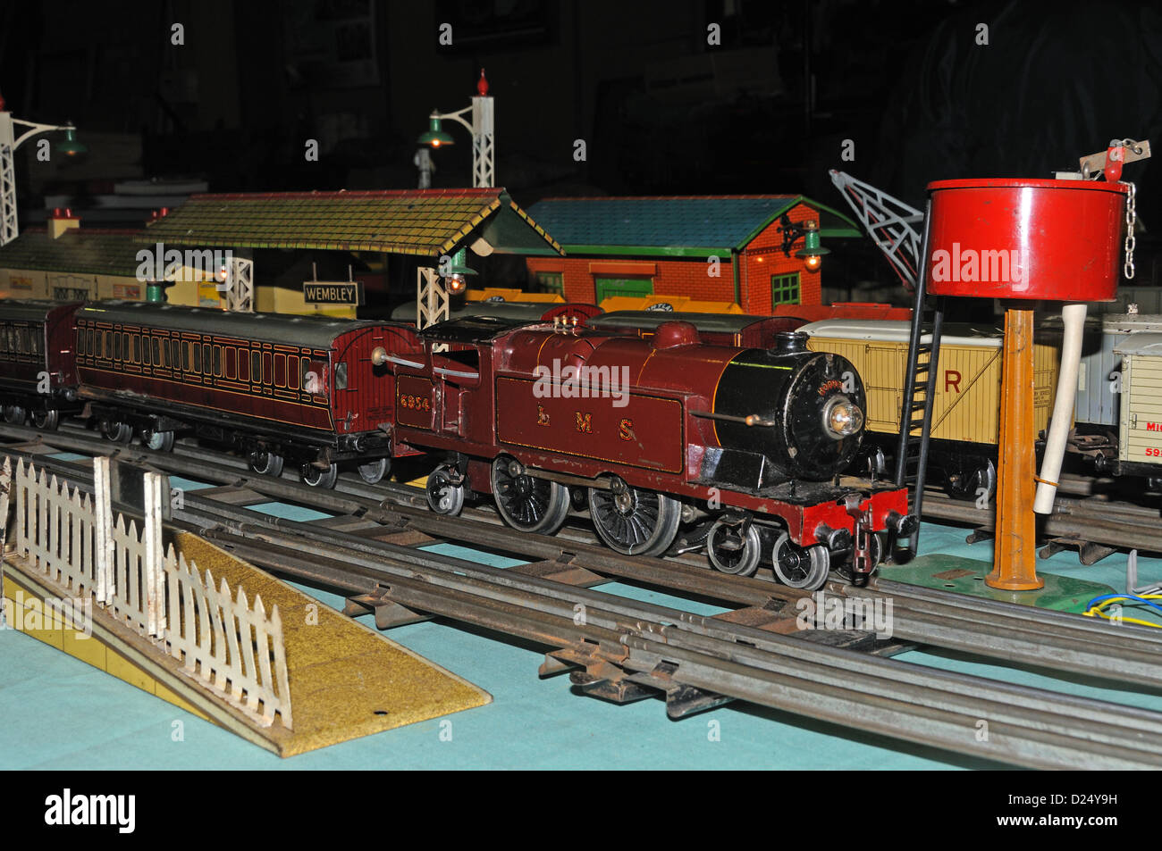 Vintage 0 Gauge Hornby Trains from the late 1930s - Stock Image