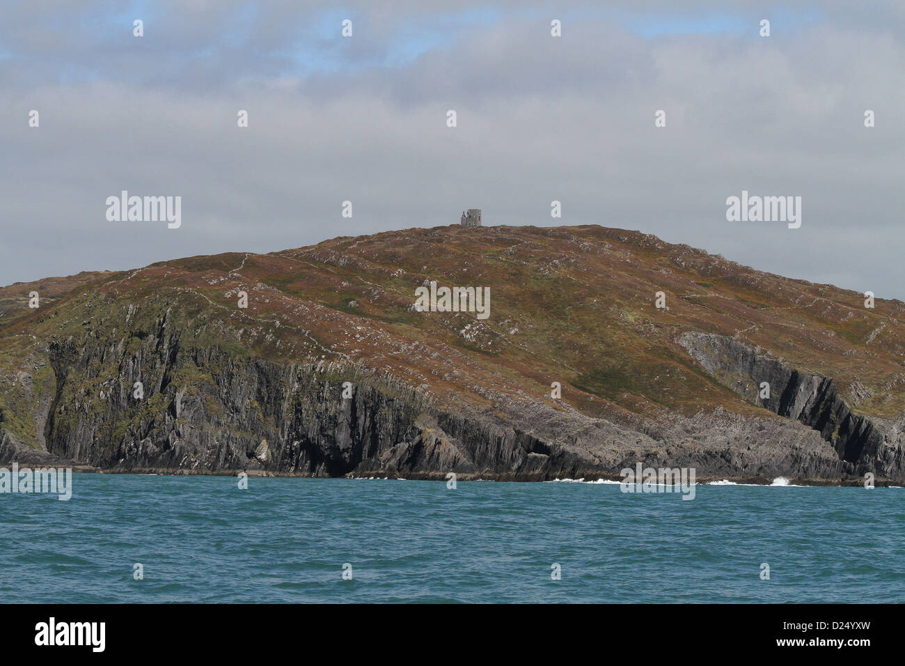 Spain Tower on the headlands near Baltimore west Cork Ireland - Stock Image
