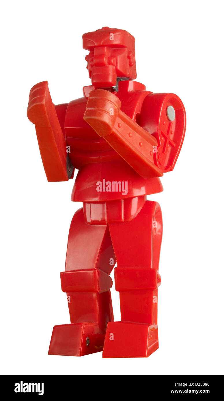 Red Rock-em Sock-em  robots - Stock Image