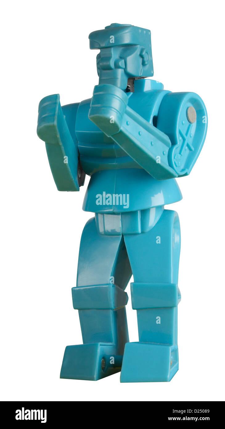 Blue Rock-em Sock-em  robots - Stock Image