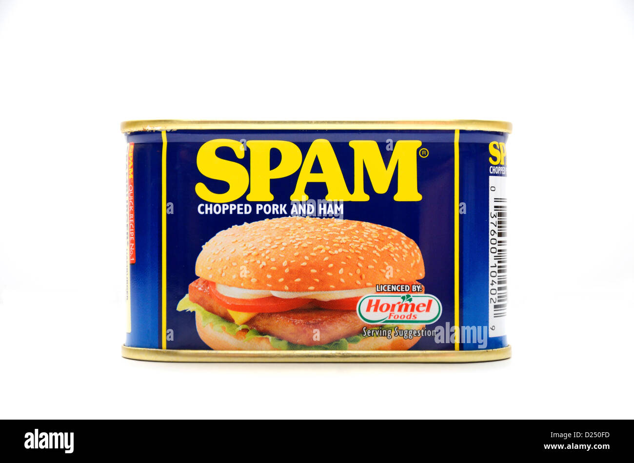 A tin of spam - Stock Image