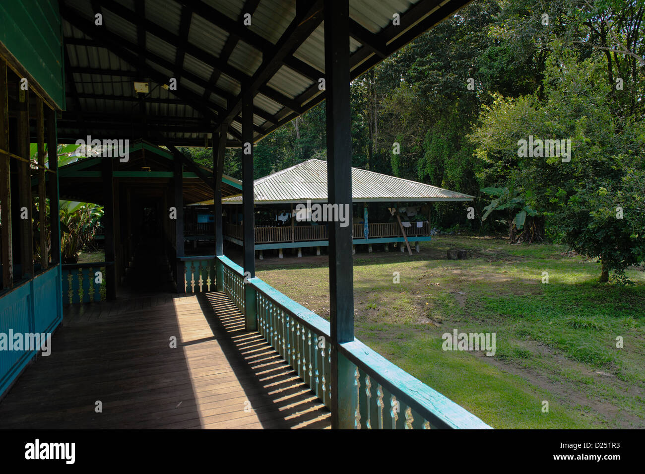 A part of Sirena Ranger Station , Corcovado National Park, Costa Rica. - Stock Image