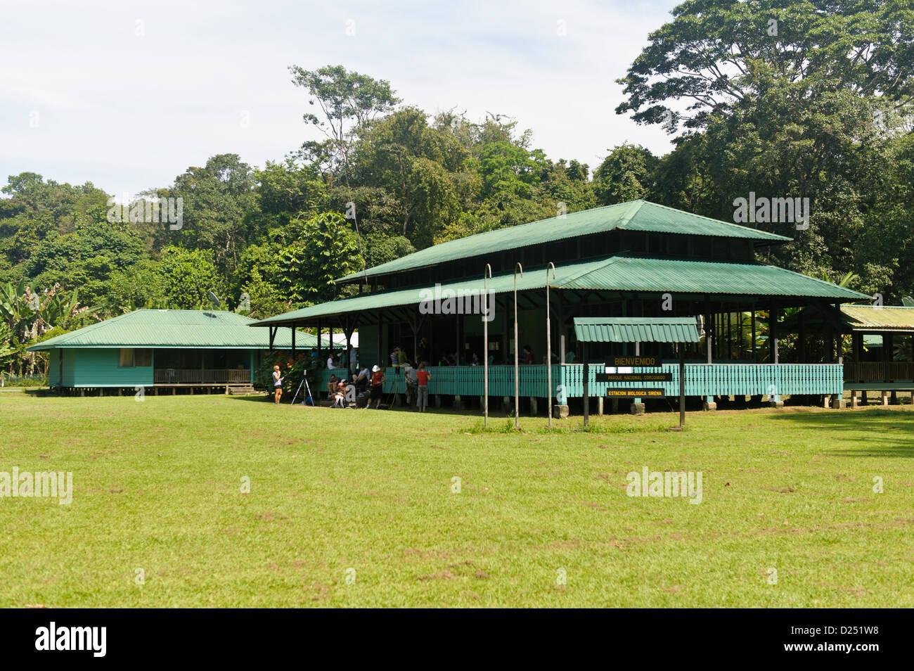 Sirena Ranger Station. Corcovado National Park. Costa Rica.. - Stock Image