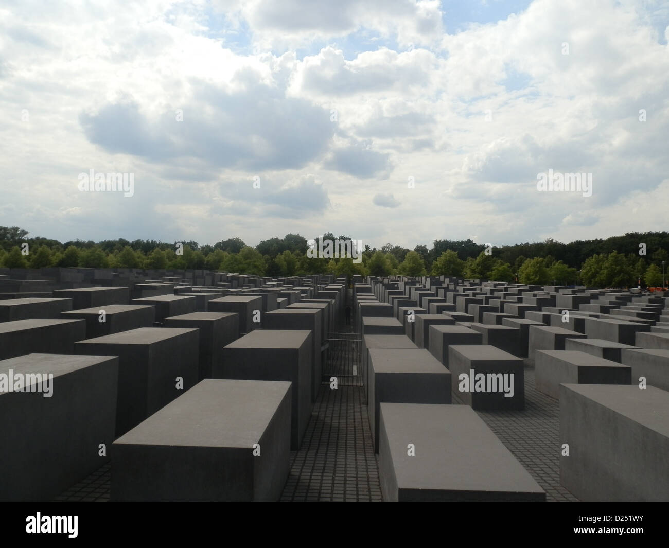 holocaust memorial in Berlin, Germany - Stock Image