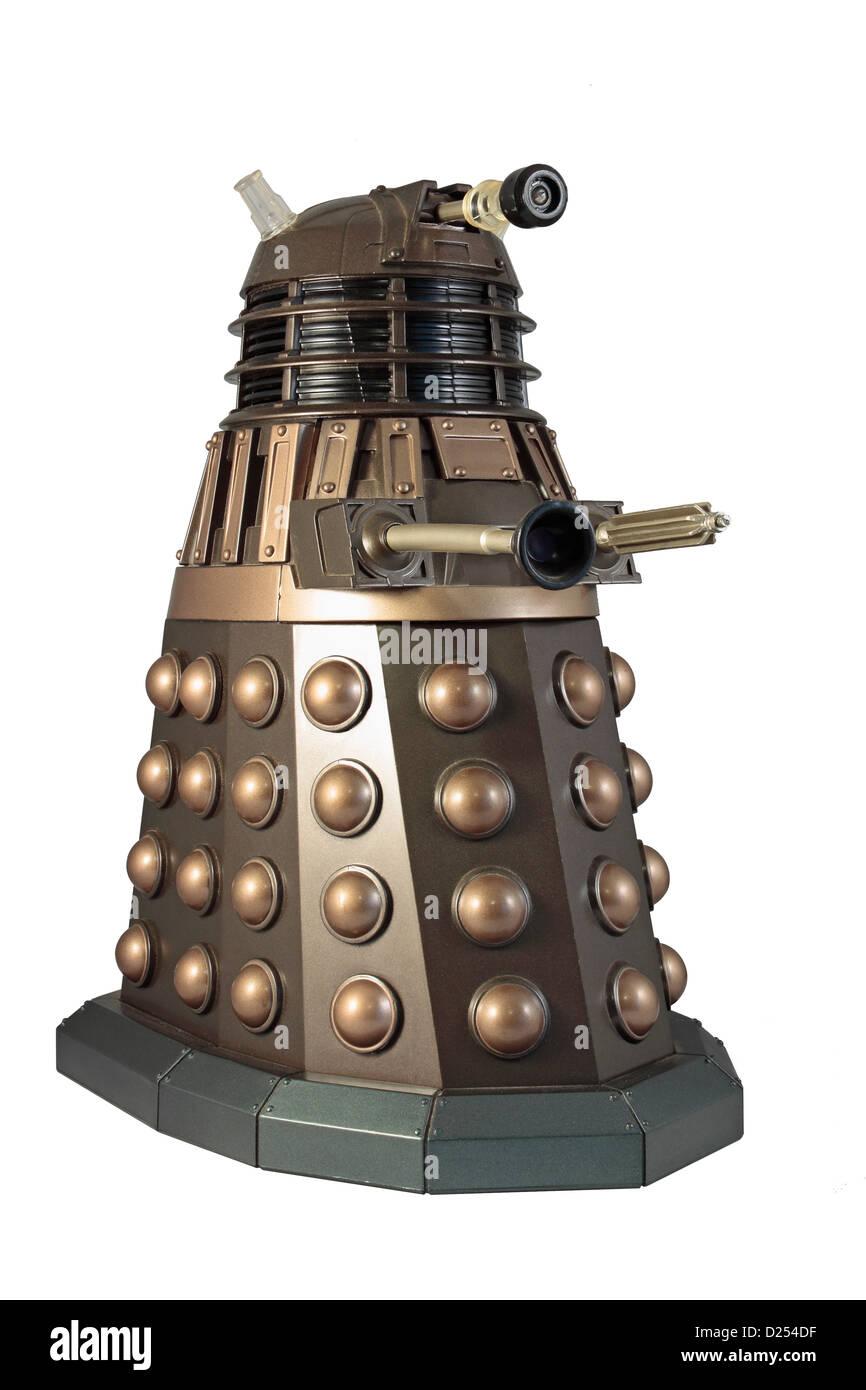 Dalek Isolated on white background - Stock Image