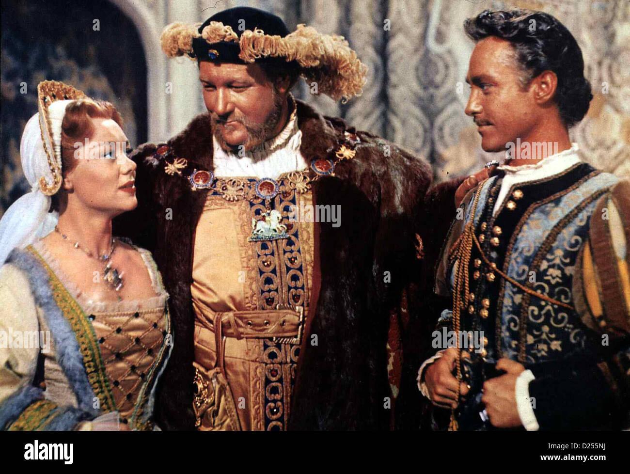 Eine Prinzessin Verliebt Sich  Sword Rose,  Glynis Johns, James Robertson Justice, Richard Todd Prinzessin Mary - Stock Image