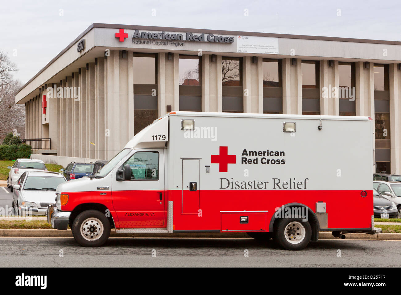 American Red Cross Disaster Relief truck Stock Photo