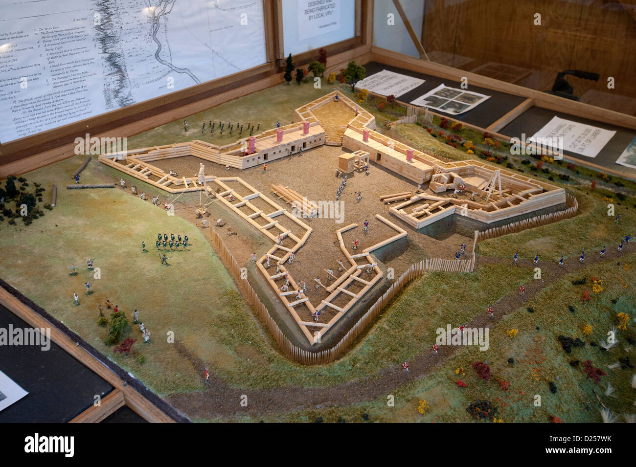 Historical miniature scale model of Fort Stanwix National Monument. - Stock Image