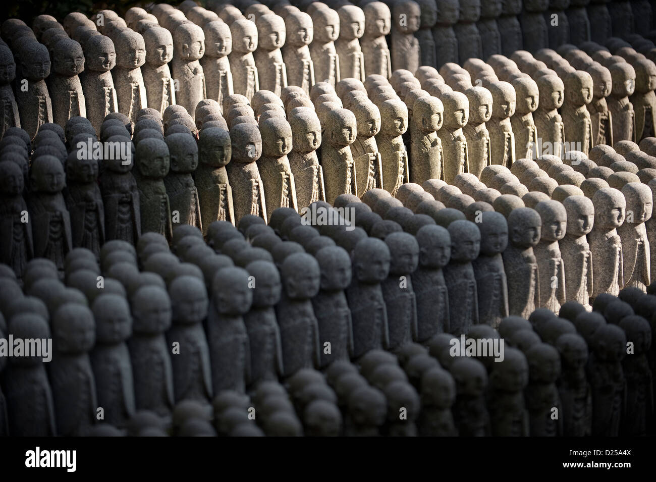 Statues at the Hasedera Temple, Japan - Stock Image