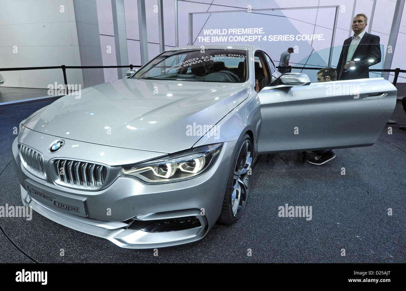 BMW 4er Concept Coupe is unveiled on the first press day of the North American International Auto Show (NAIAS) in - Stock Image
